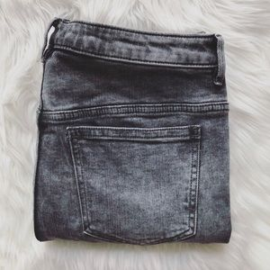 Free People Size 30 Gray Button Skinny Jeans